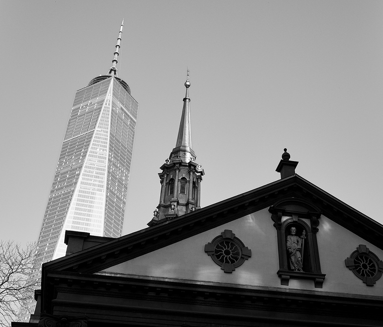 One World Trade Center and Trinity Church