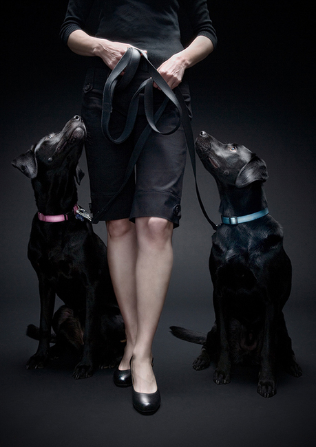 Karen Smith - two black labs
